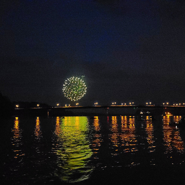 July 3rd Fireworks Paddle: Tandem Canoes