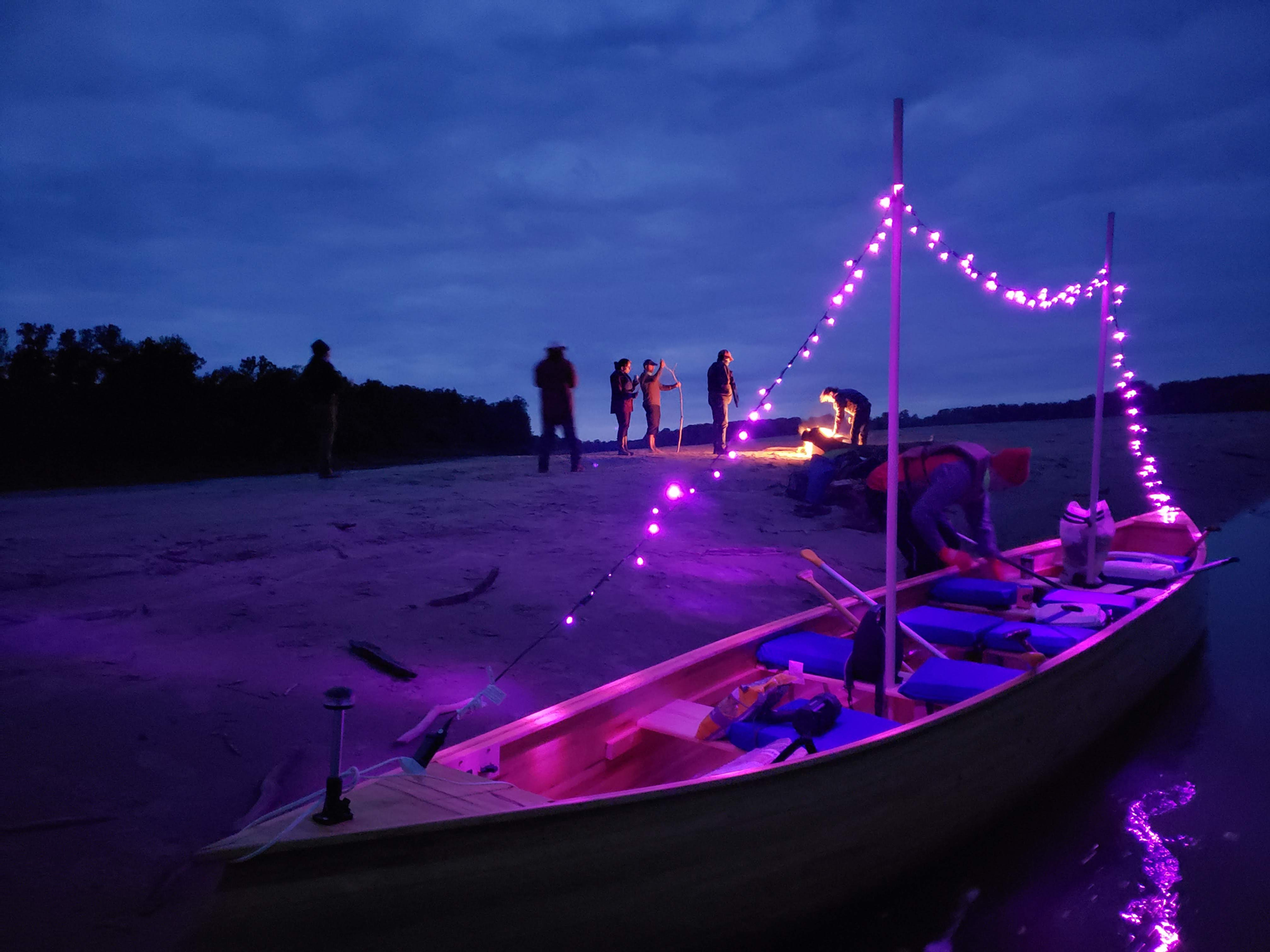Full Moon Paddle: Voyager Canoe