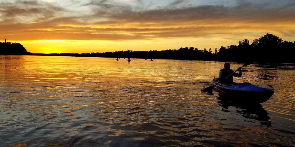 Missouri River Sunset/ Full Moon Paddle 10/2/20