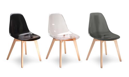 Lot de chaises transparentes Diana