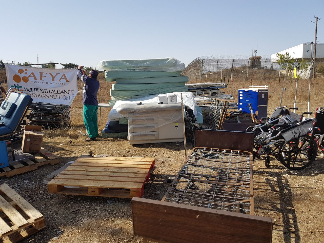 Afya Foundation Container Arrives