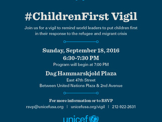 Join MFA at U.S. Fund for UNICEF's Vigil for Refugee and Migrant Children