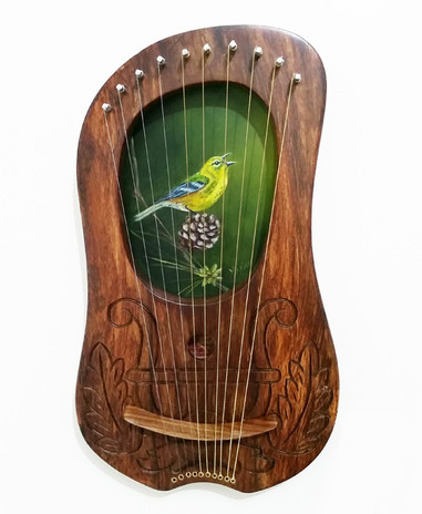 Green Finch Lyre - $270