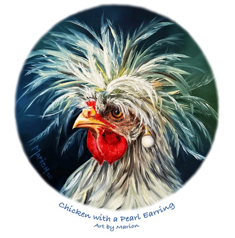 Chicken with a Pearl Earring