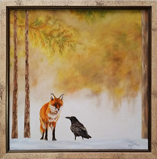 SOLD - The Meeting framed