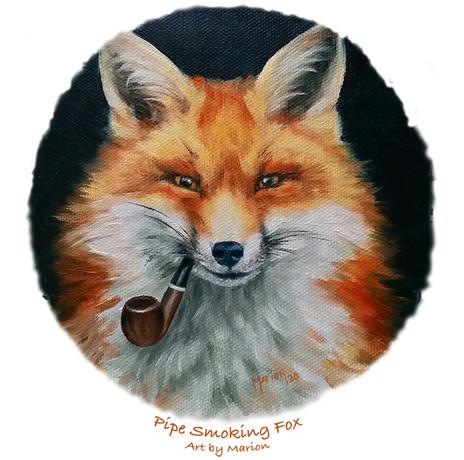 Pipe Smoking Fox
