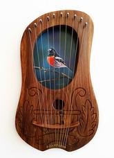 Scarlet Robin Lyre - $270