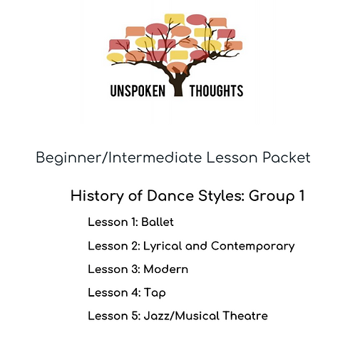 Lesson Packet: History of Dance Styles 1