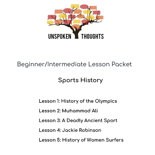 Sports History: Lesson Packet