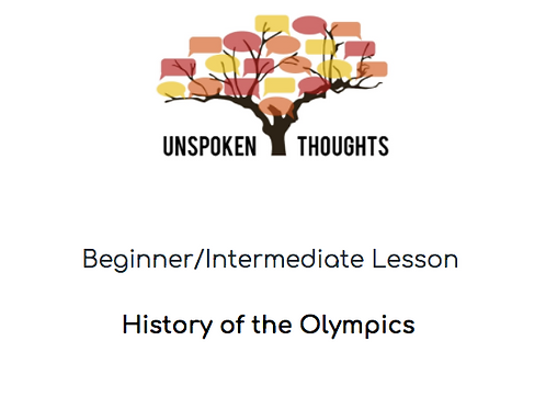 History of the Olympics Lesson
