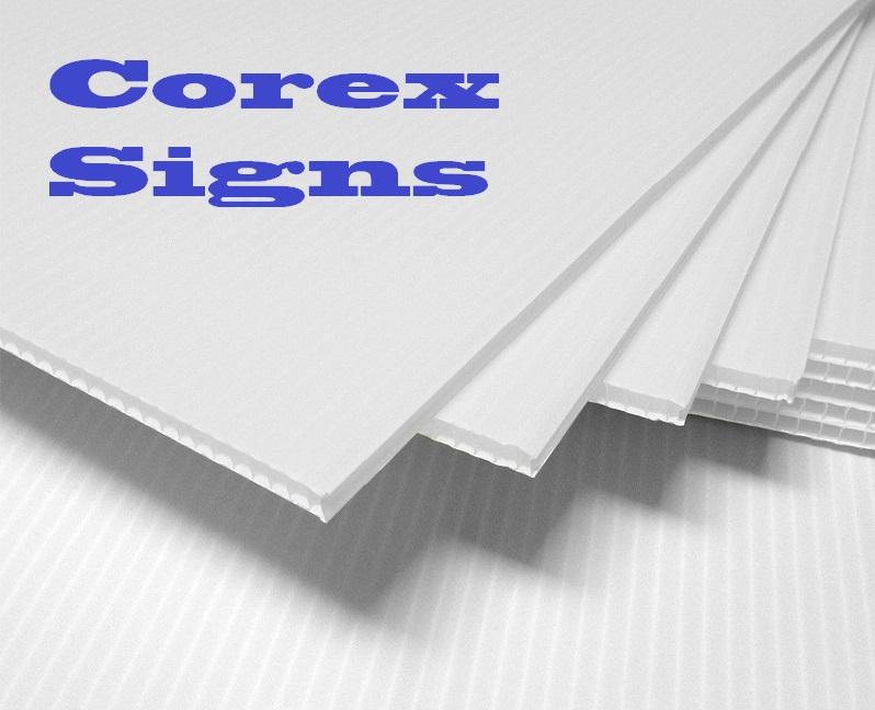 cardiff bay print corex signs