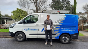 Kyle Collenette becomes Optimum Air's first graduate apprentice