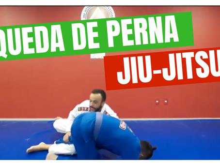 Queda de perna para jiu-jitsu