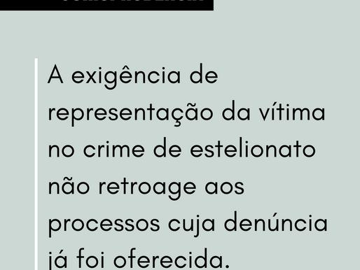 Representação da vítima e retroatividade da nova lei no estelionato
