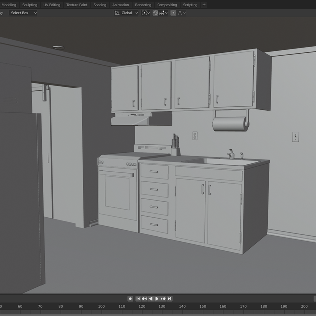 3D Model of my kitchen