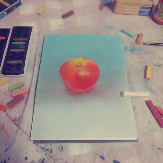 Pastel Still Apple