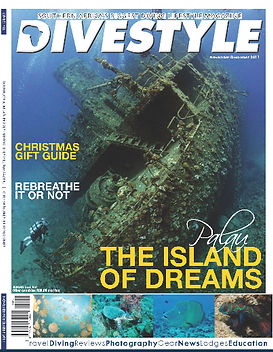 My first cover on a dive magazine