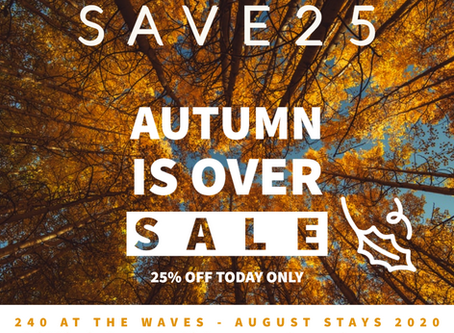 Save 25% on an August Stay at 240 At The Waves