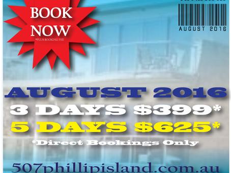 Phillip Island August Value!