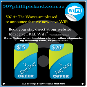 WiFi at 507 At The Waves Phillip Island
