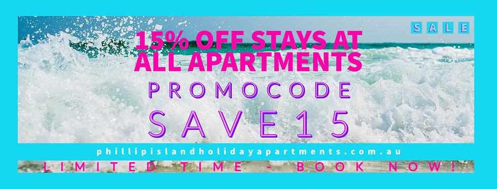 15 OFF - Phillip Island Holiday Apartmen