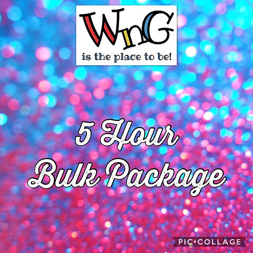 5 Hour Bulk Package