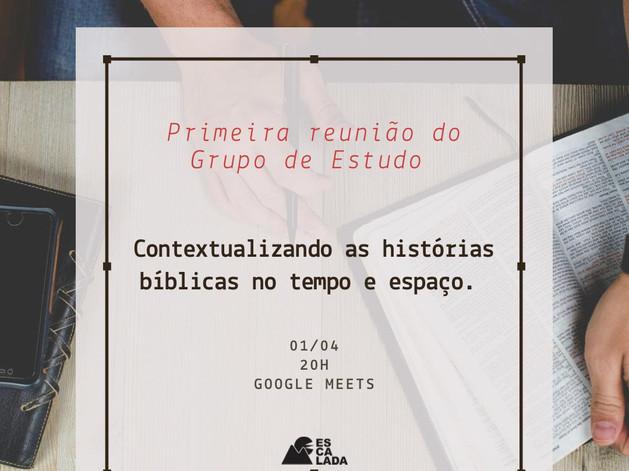 Inscrições para o Grupo de estudos sobre a Bíblia