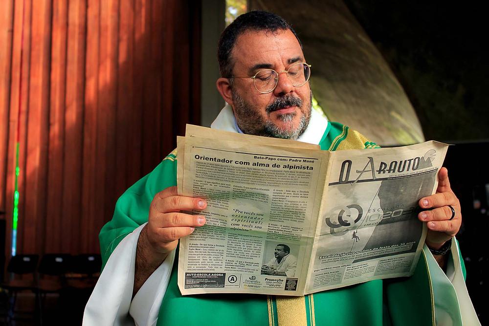 Bate-papo com Pe. Mané em 2008 - Jornal Arauto
