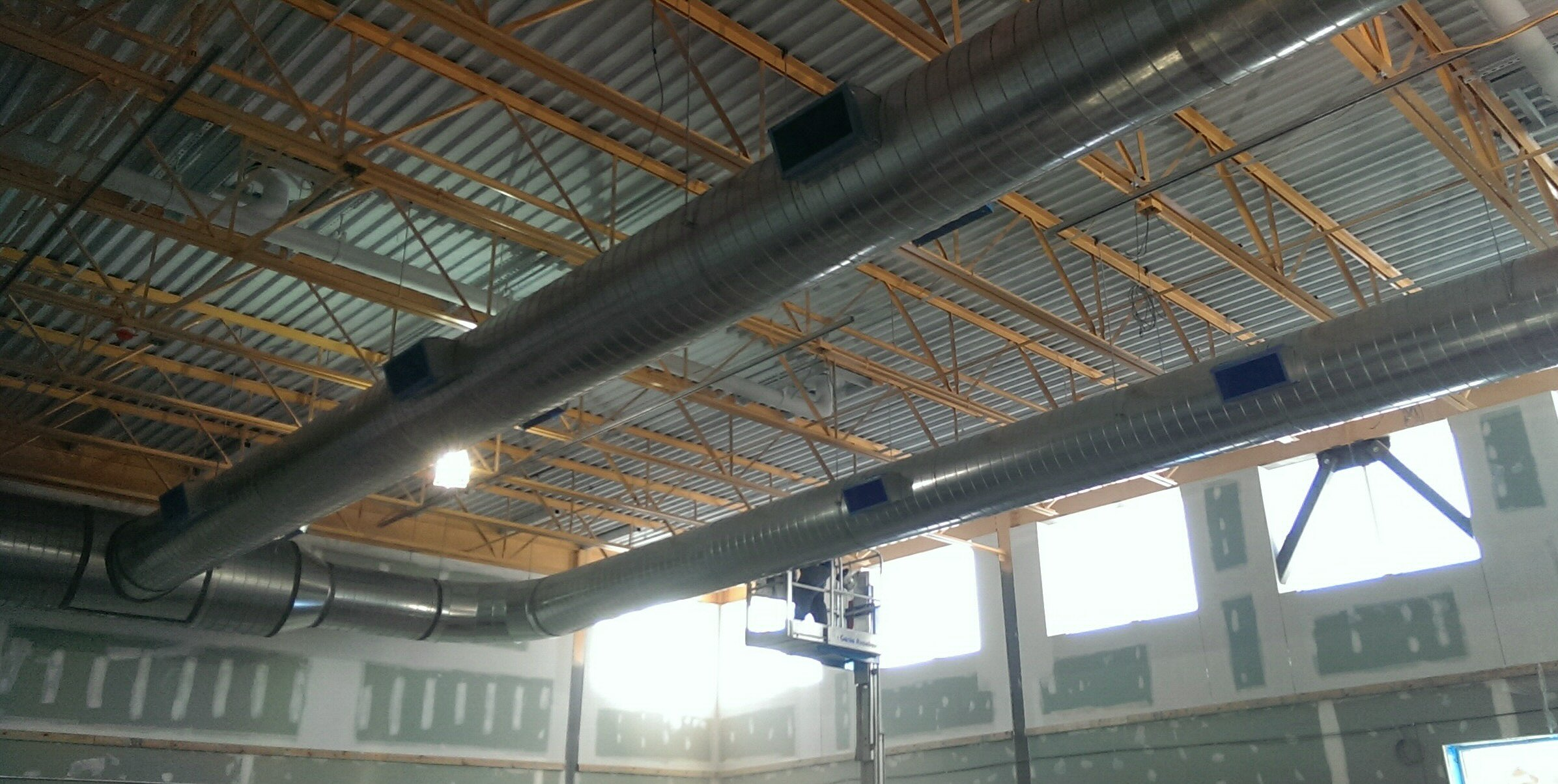 Soule School Gym Duct