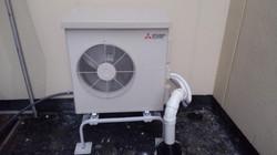 Condo heat pump condenser