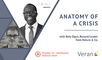 Anatomy of a Crisis webinar with Bola Ogun, Reward Leader from Natura & Co.