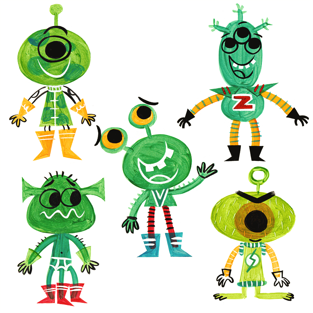 A BUNCH OF ALIENS