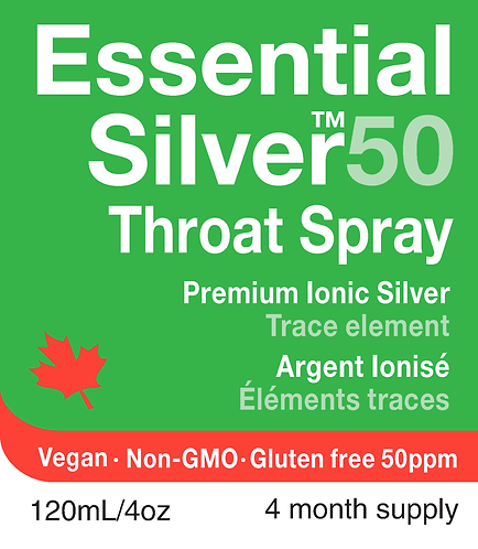 Essential Silver™ Ultra Strength 50 ppm Throat Spray