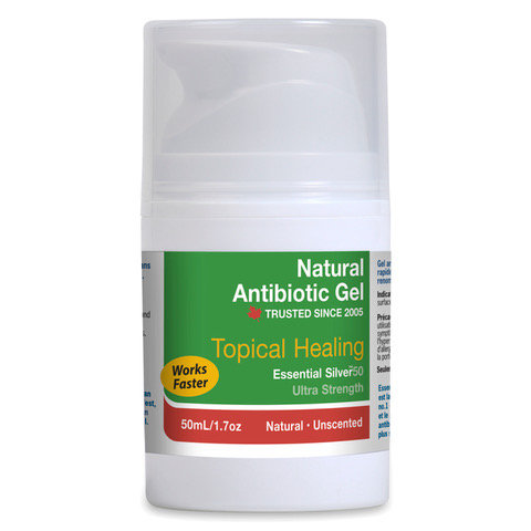 Essential Silver™ Ultra Strength Natural Antibiotic Gel 50ppm - Unscented