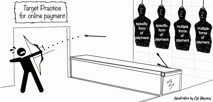 Target practice for online payment