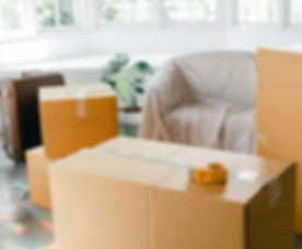 Canva - Empty apartment with packed cart