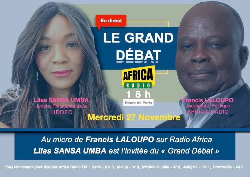 Interview Lilas SANSA UMBA sur Africa radio Francis Laloupo, LIDDFC.org