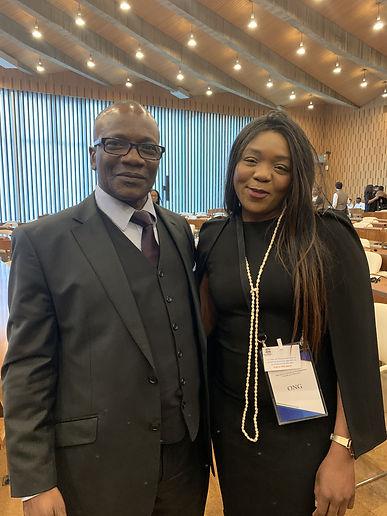H.E.M Oumar Keita (Ambassadeur, Délégué Lilas Sansa Umba (Présidente LIDDFC)