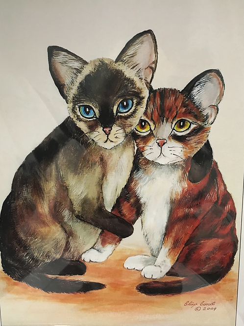 CATS ELIZA CORAL PRINT Couple
