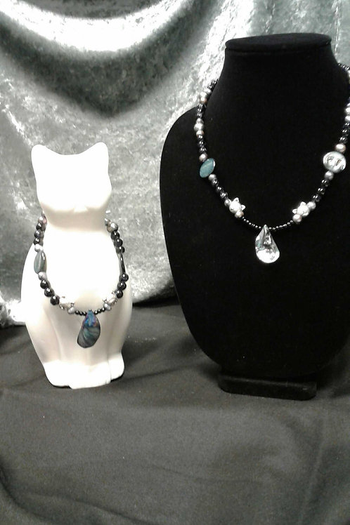 MOMMY & ME-OW Necklace and Collar Set  (shell)