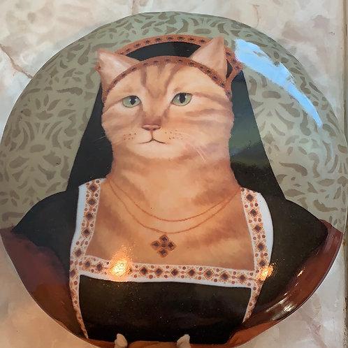 renaissance cat; large stash box