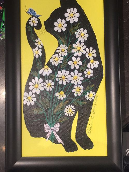 """""""MISS DAISY""""Original Acrylic/Oil"""