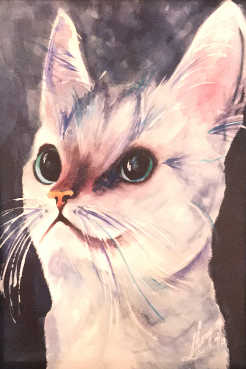 """""""HANDSOME"""" Watercolor by Shery Polansky"""