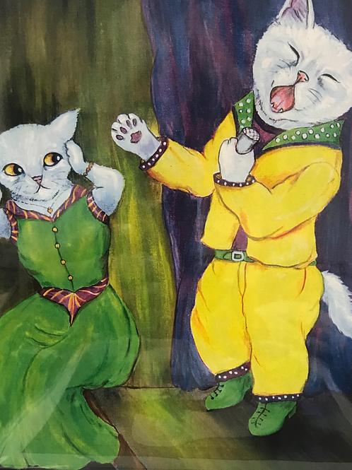 CATS ELIZA CORAL PRINT Too Loud