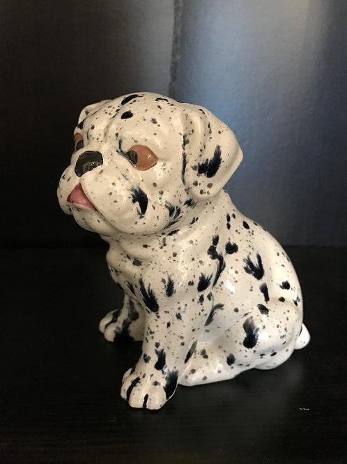 VINTAGE Cross Eyed Ceramic Dog