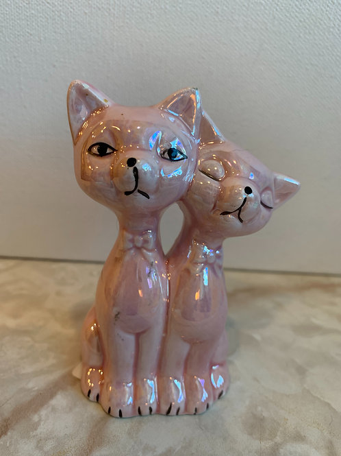 Pink Cats; pink cat cake topper