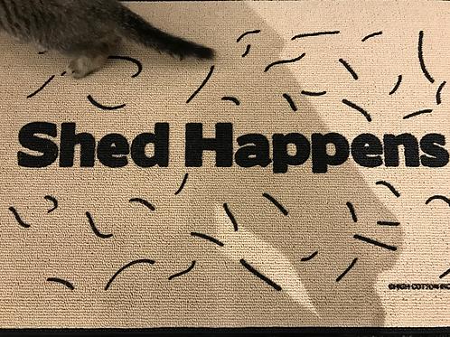 """CATS Floor Mat  """"SHED HAPPENS"""""""