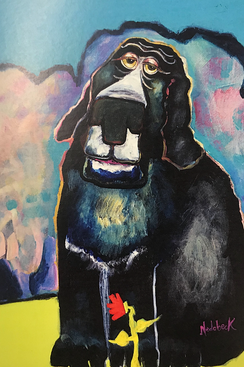 "NEDOBECK ""BLACK DOG"" PRINT CARD"