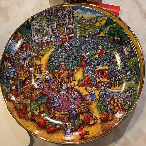 fine porcelain, Bill Bell, grape harvest, wine