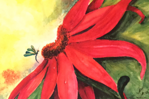 """RUDBECKIA"" Watercolor by Shery Polansky"